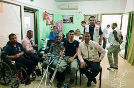 ضمن مشروع الزيارات المنزلية للجرحى السلامة الخيرية في محافظة خانيونس بالتعاون مع مؤسسة أطباء حول الأرض تركيا (DWWT)