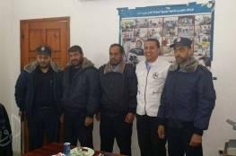 السلامة الخيرية بمحافظة خانيونس تستقبل وفد من العلاقات العامة التابع للشرطة بالمحافظة .