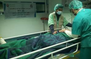 مشروع علاج الجرحى الفلسطينيين في قطاع غزة